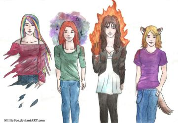 Freaky Fanfic Girls by MillieBee