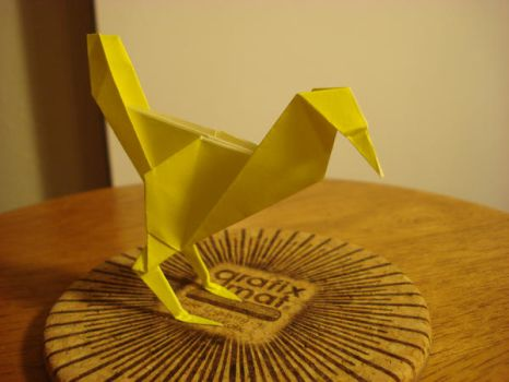 Origami Chocobo by afrokenshi