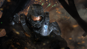 Master Chief and Cortana - Through Struggle by Peltskin