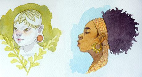 Watercolor doodles by Longhair