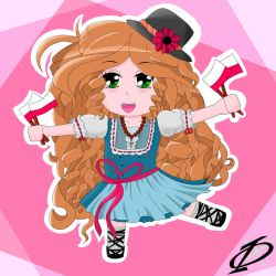 Polish chibi doll in Traditional Dress by Kergul