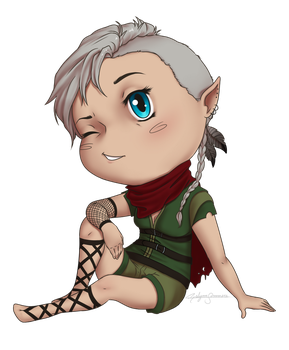 Elf Girl Cheeb Commission by RoslynnSommers