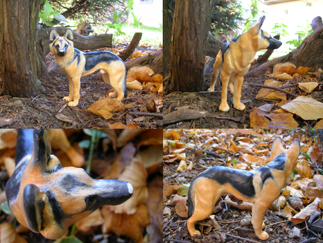 Remo German Shepherd Sculpture by WildSpiritWolf