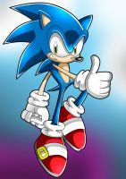 Sonic Lineart - Colored by super-sawnyc128