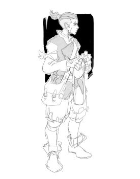 Character Concept sketch by Neexz