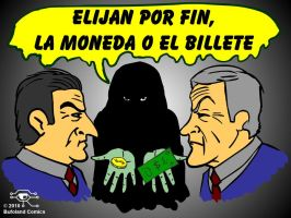 La Moneda o el Billete by Bufoland
