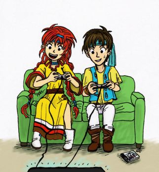 Gamer Couple! by sweet-suzume