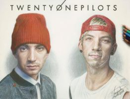 Twenty One Pilots (Drawing) by Tokiiolicious