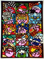 Papercutting Kirby-Completed by Sirometa