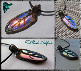 Tealpanda Artifacts - Copper Colorchange Leaf by TealpandaArtifacts