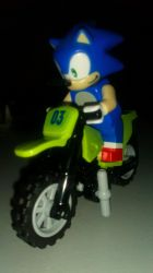 Lego Sonic on Motorcycle by FZone96