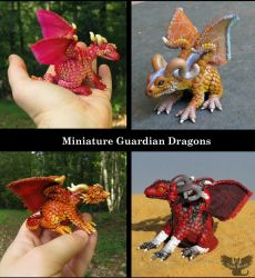Tiny Guardian Dragons by ART-fromthe-HEART