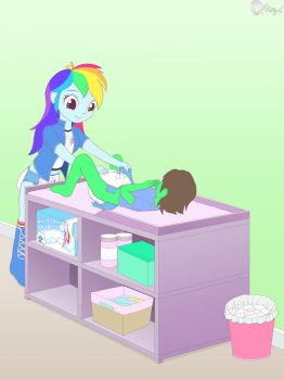 Cmm EQG diapering by PrincessPolly63
