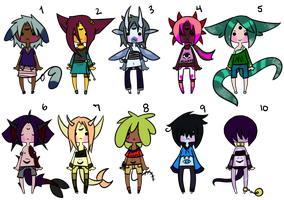 50 Point Adoptables (4/10 OPEN) by WindyAdopts