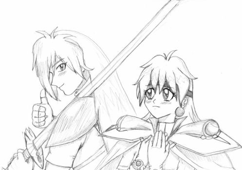 Lina and Gourry by Tenshi-Inverse