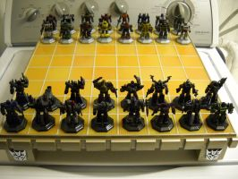 Transformers custom chess set decoy by Prowlcop
