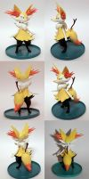 Handmade: Braixen Sculpture