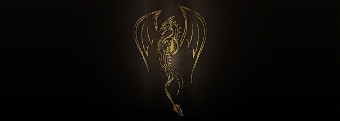 Vector bronze metallic dragon by PeterKorbas