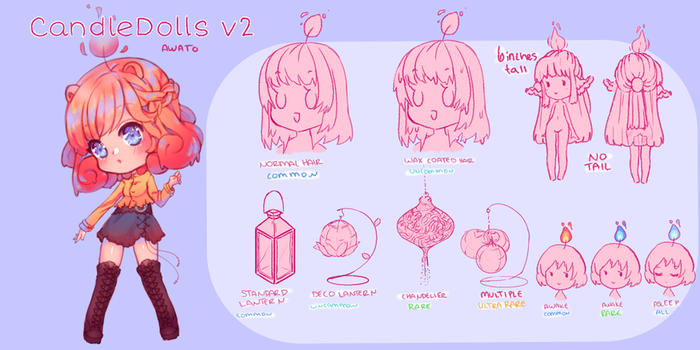 CandleDolls Species Reference v2 by Awato