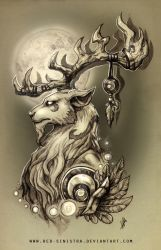 WoW - Malorne (pencil) by Red-Sinistra