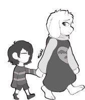 Frisk and Toriel by Thetruffulacupcake