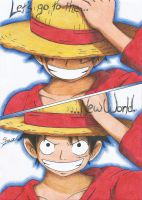 Luffy - Lets go to the New World !! by ShinsArt