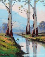 River Gums -Graham Gercken by artsaus