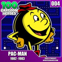 100 Cartoon Heroes - 004 - Pac-Man! by CreedStonegate
