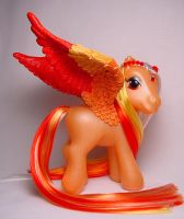 Flickering Flame little pony by Woosie