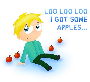 Loo Loo Loo i got some apples by Drawn-Mario