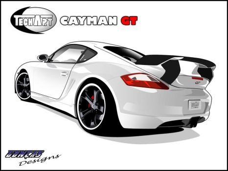 Porsche Cayman GT Vector by carguy88