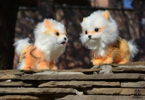 Poseable Toy Commission couple  Arcanine