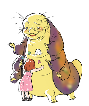 Giant cuddly magician caterpillar by kemiobsesses