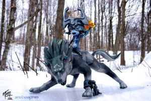 Wolf Link and Midna Papercraft by studioofmm