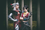 Flemeth and Morrigan cosplay by RedChaosCosplay