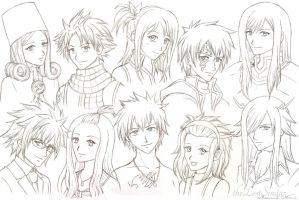 Fairy Tail Sketches by theLostSindar