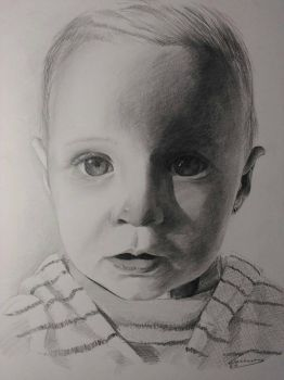 Pencil portrait baby by Lucbannon