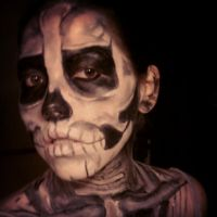 Skeleton Face Paint3 by stinafacexd