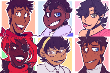 Undertale Human AU icons by TODD-NET
