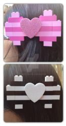 Lego Hair Bow by messypink