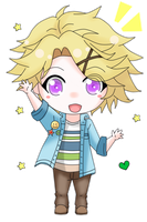 Chibi Yoosung [Mystic Messenger] color by Shiemi-Hime