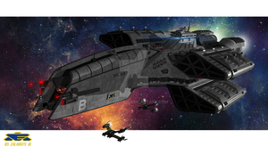 Babylon 5 warship the 'EAS Ben Hur' by calamitySi