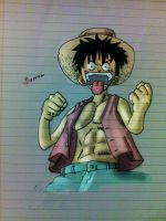 Crazy Luffy colored by IRCSS