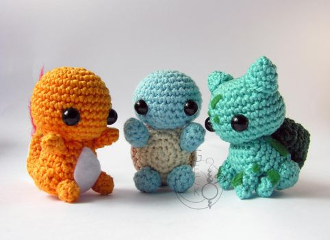 Chibi First Generation Starters by LeFay00