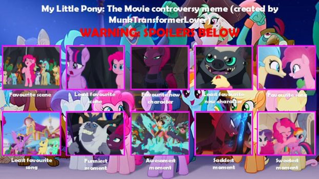 My little Pony The Movie Controversy Meme by XaldinWolfgang