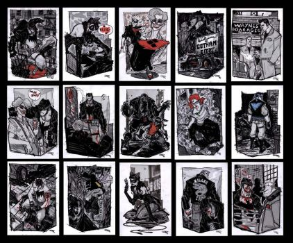 Batman Rockabilly - sketches group by DenisM79