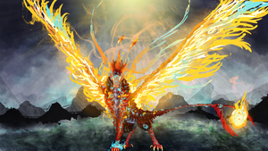 Pheonix- king of flames which out-shine the sun! by NinGeko
