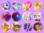 New Buttons for Everfree NW 2018 by PixelKitties