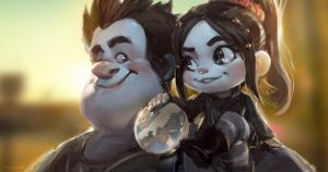 Vanellope and Ralph by Benlo