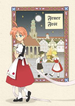 Feuer Fest - front cover by Mangaka-chan